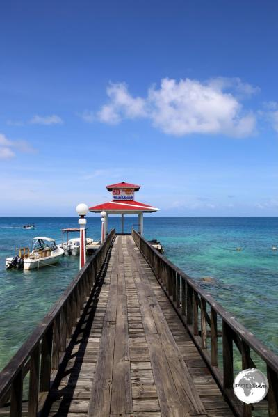 Chuuk Travel Guide: The boat jetty at Truk Stop hotel.