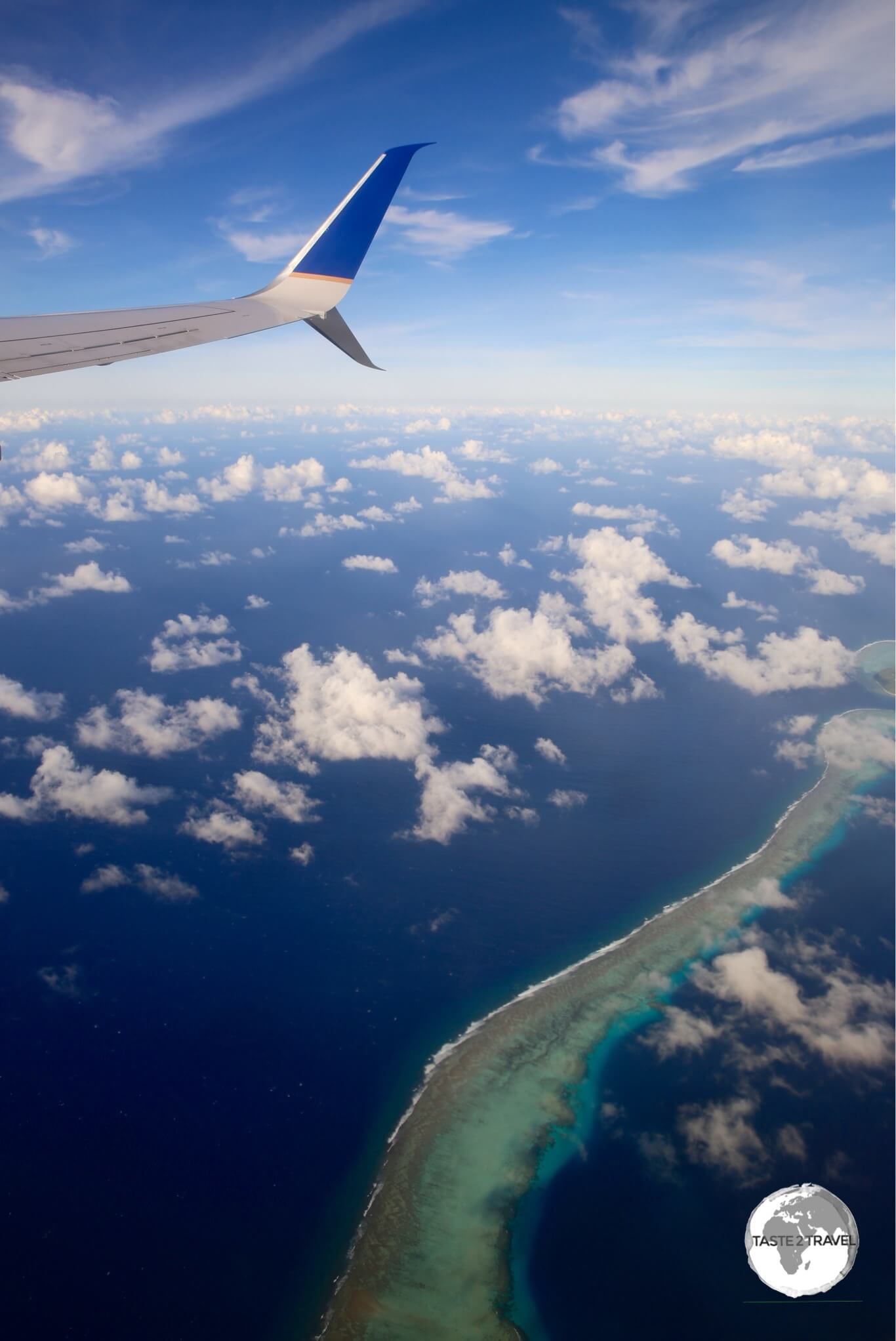 United Airlines' UA154 on approach to Chuuk International Airport.