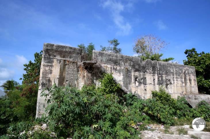 A WWII-era Japanese Bunker on Betio island.