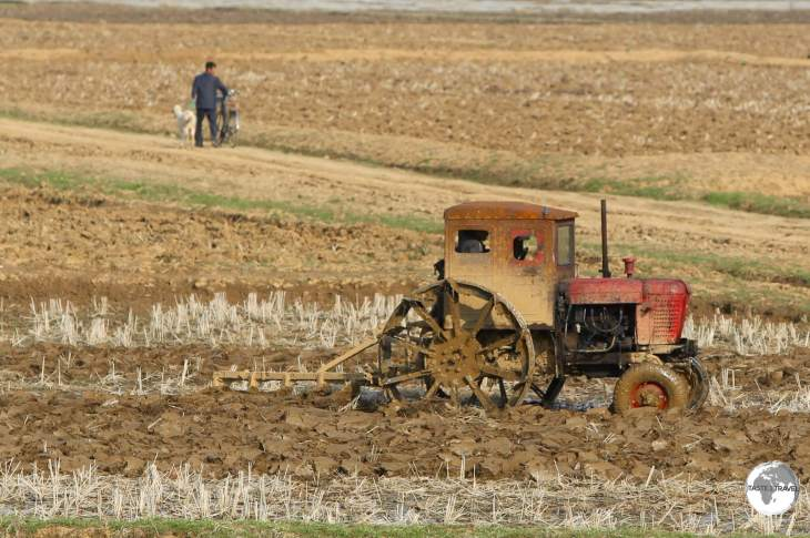 Any mechanised farm equipment in North Korea is very antique.