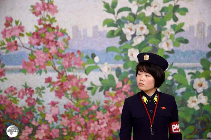 Metro guard on Yonggwang station.