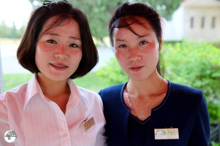 Tea ladies at the Sohung Rest House.