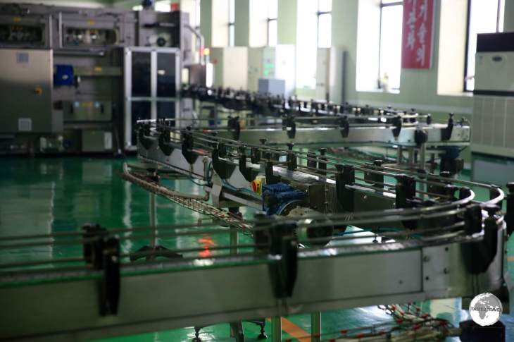 The idle bottling plant at the <i>Nampo Kangso Mineral Water Factory</i>.
