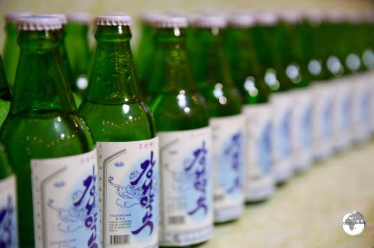 Bottles of mineral water at the <i>Nampo Kangso Mineral Water Factory</i>.