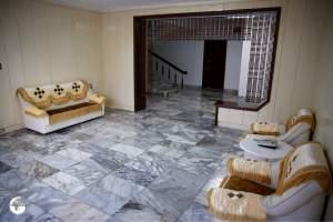 The spartan, retro interior of Ryonggang Spa Resort.