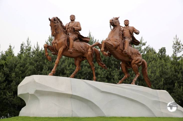 The Mansudae Art Studios in Pyongyang are home to the only equestrian statue of the two former leaders in North Korea.