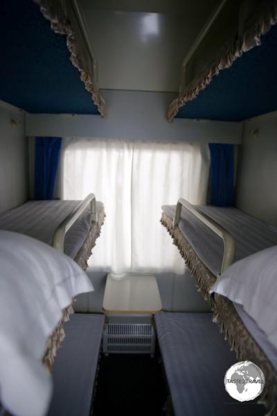 The North Korean Railways sleeper train, which transported us from Pyongyang back to Dandong, China.