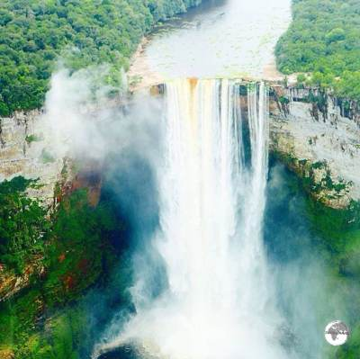 Kaieteur Falls is the world's widest single drop waterfall. The falls plunge 226 metres in a single drop.