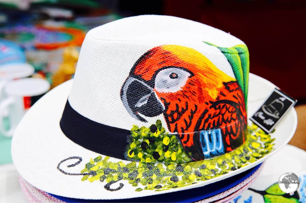 A decorative Panama Hat.