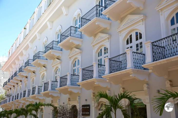 Another renovated Spanish colonial-era gem in the Casco Antiguo, Panama City.