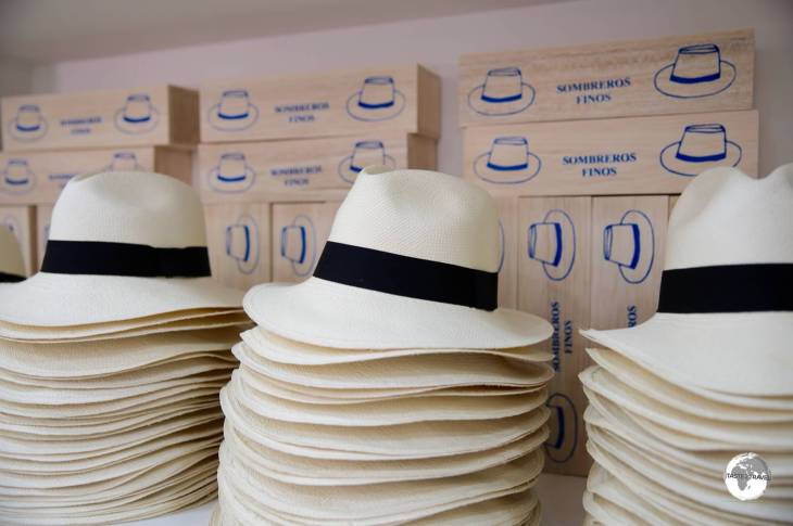 Panama Hats on sale in Panama City,