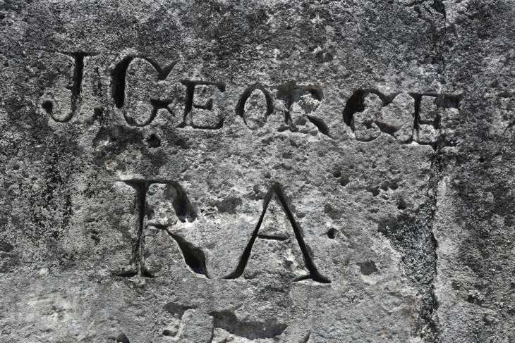 Colonial-era graffiti.