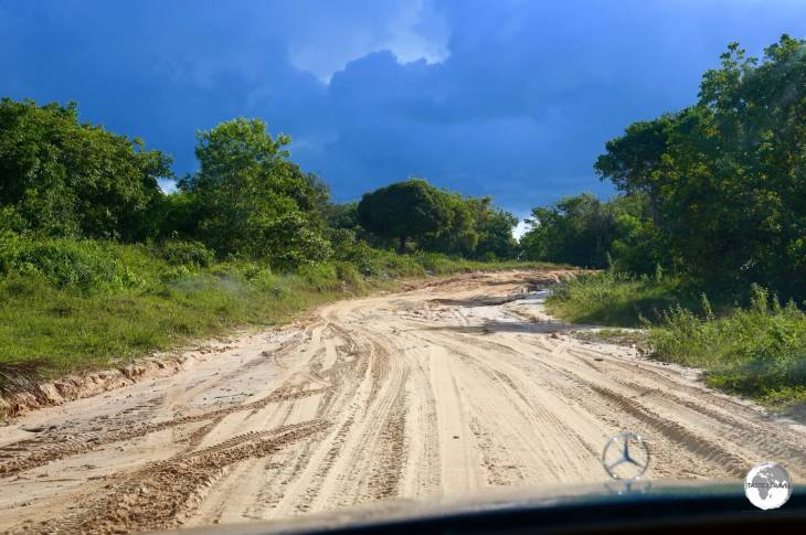 Typical road in the interior - outside Bartica.