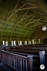 Interior of St. Peter's Anglican Church, Leguan Island.