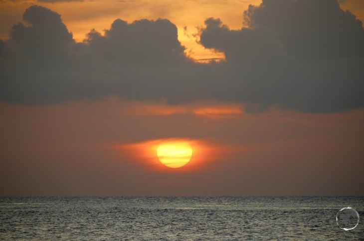 The sunset view from the Macabuca bar, Grand Cayman.