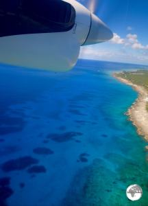 Flying to Cayman Brac.