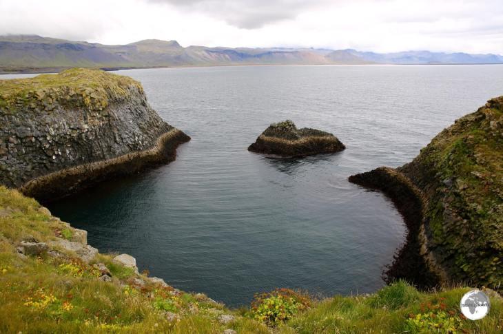 View of the coast at Arnarstapi.
