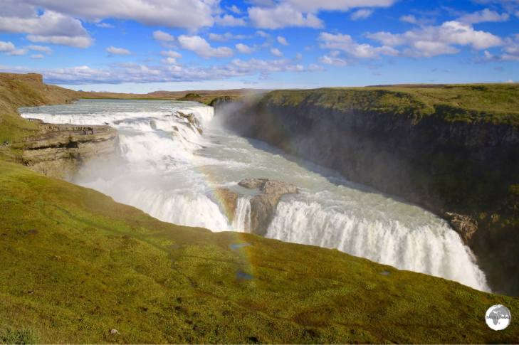 Gullfoss waterfall.