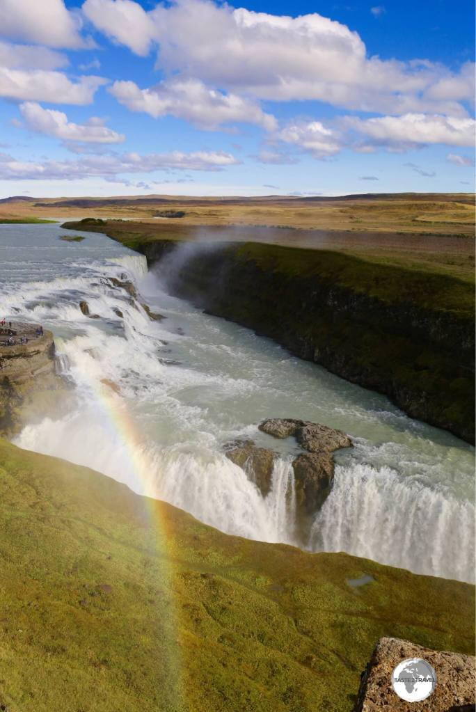 Always a rainbow at Gullfoss waterfall.