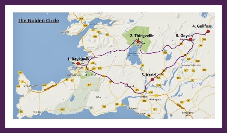Golden Circle Route Map