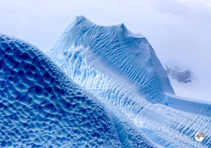 Works of ice art - icebergs in the Errera Channel.
