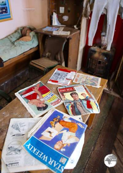 From thermal pants to magazines, the living quarters at <i>Base W</i>, on Detaille Island, remain undisturbed since the late 1950s.
