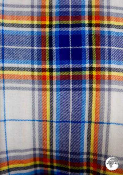 My Antarctic tartan scarf which I purchased at the Port Lockroy post office.
