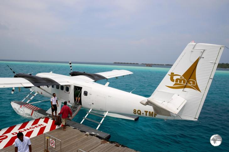 Arriving at Vilamendhoo on my TMA flight.