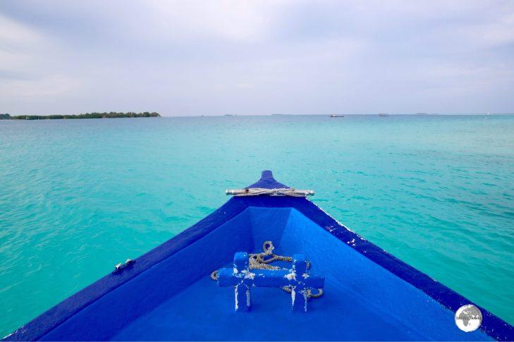 Arriving at Vilamendhoo Private Island Resort.