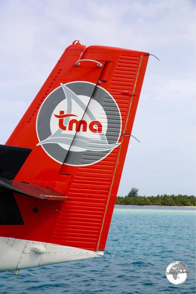 A TMA De Havilland Twin Otter at Vilamendhoo resort.
