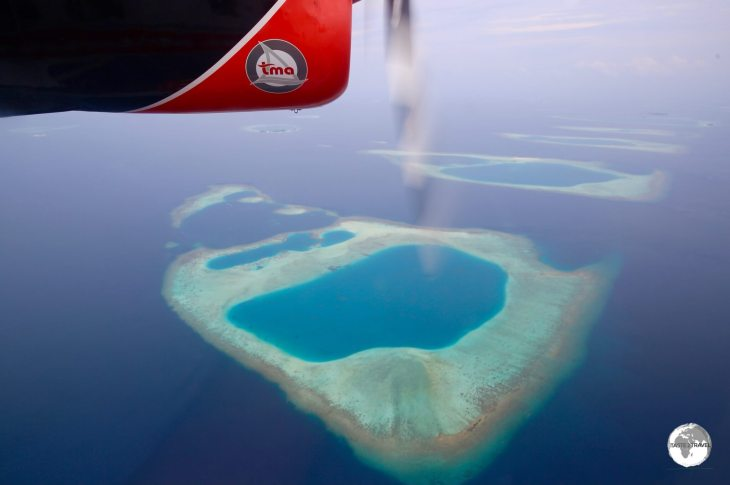 The view from my TMA flight from Malé to Vilamendhoo Resort.