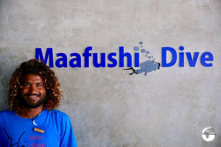 The friendly staff at Maafushi divers.