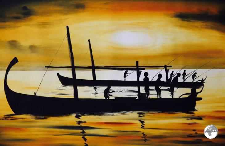 Maldivian sunset by Ibrahim Shinaz.
