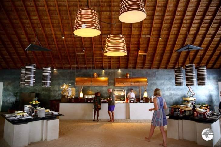 Ahima buffet restaurant at Vilamendhoo resort.