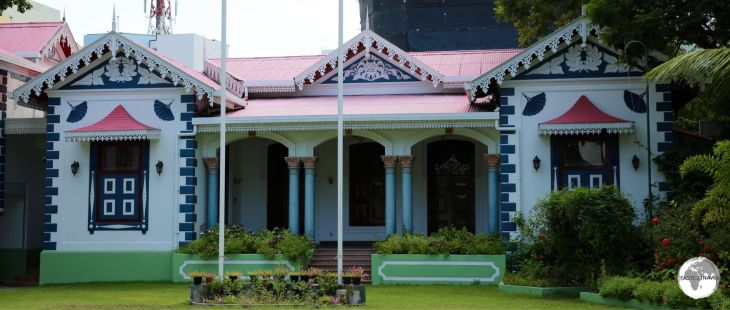 Mulee'aage - the modest residence of the President of the Maldives.