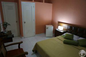 My comfortable room at Casa Guevara Alba B&B in Havana.
