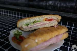 The ubiquitous and popular Cuban sandwich.