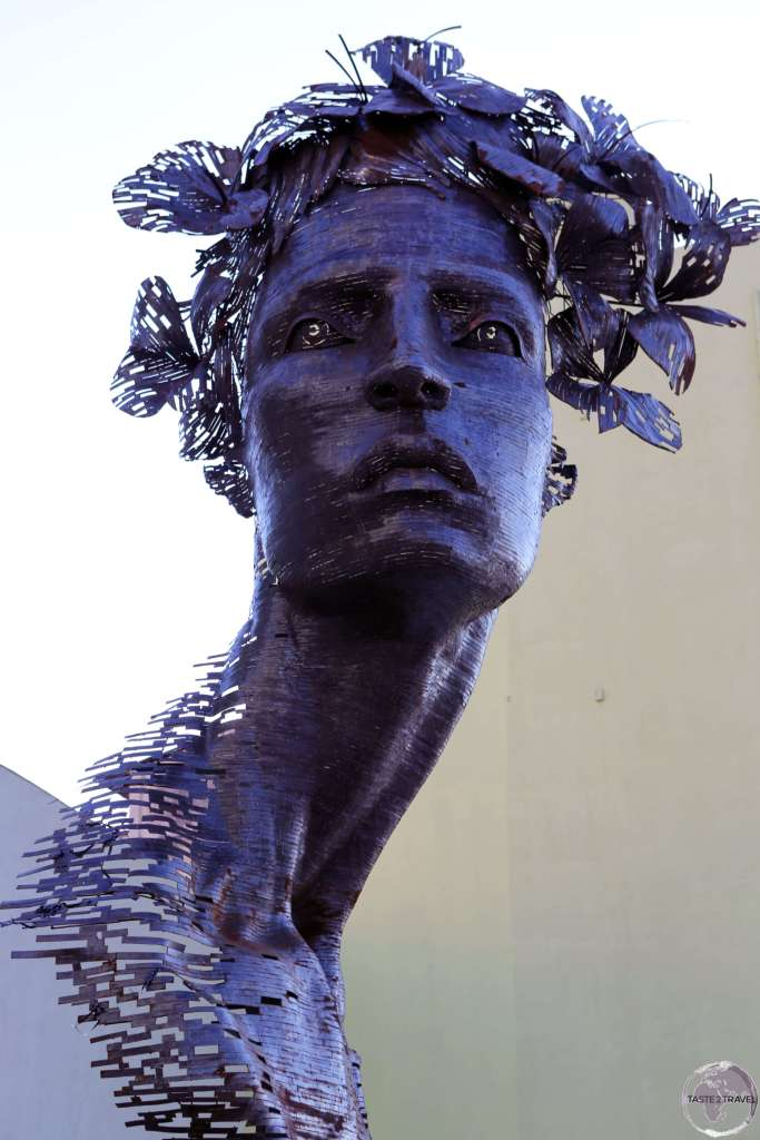 "This sculpture titled Primavera (""Spring"") was installed on Havanas' Malecon as part of its 12th Biennale."