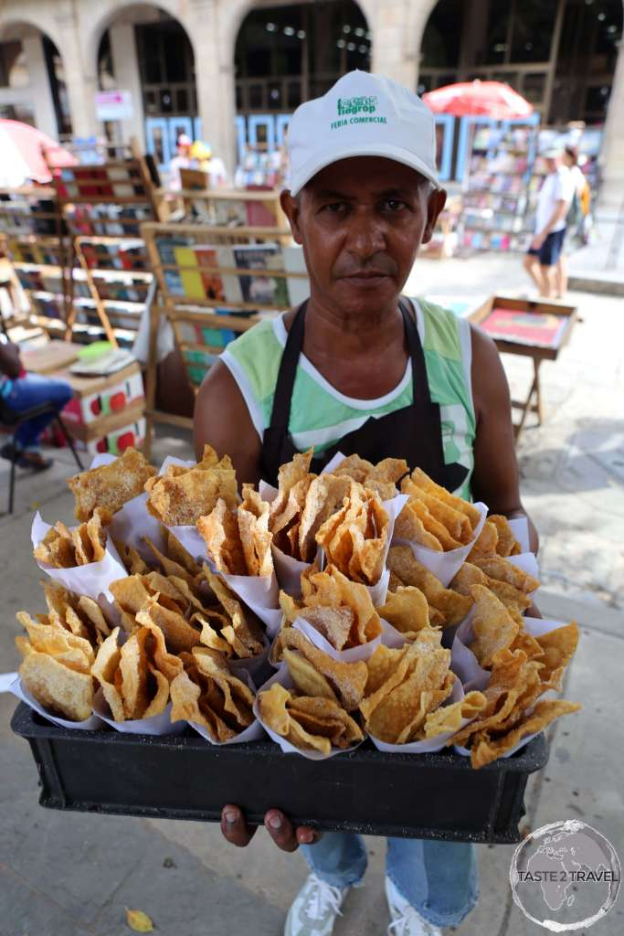 Food vendor in Havana old town.
