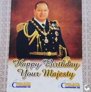 The current King of Tonga - Tupou VI.