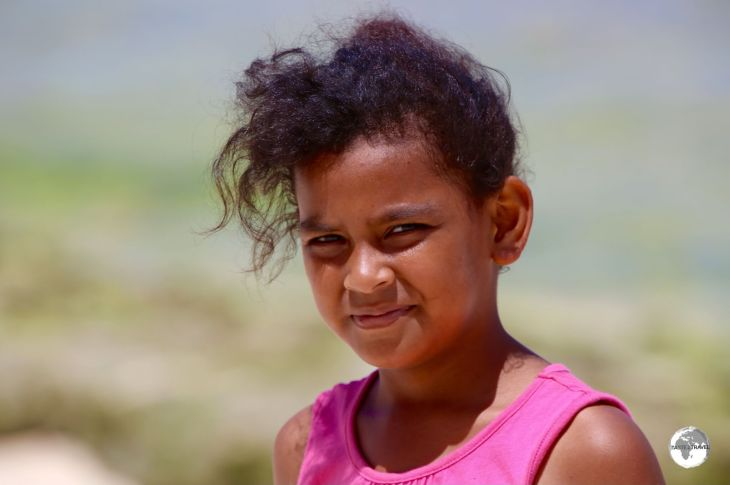 A young girl on Tongatapu Island.