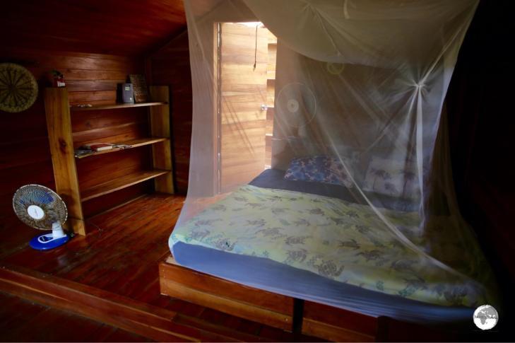 My room at Ovava Tree Lodge on Eua island.