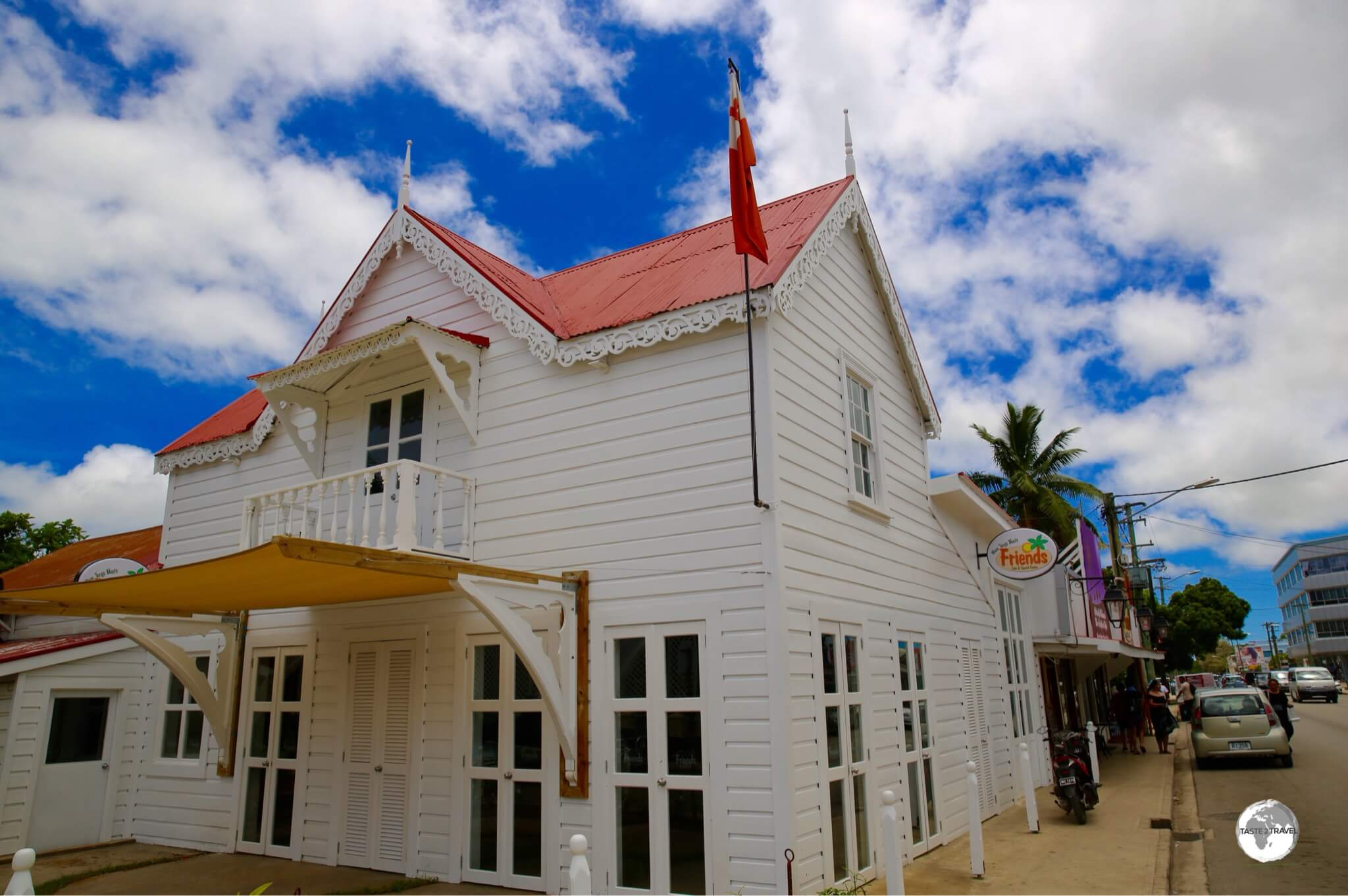 The ever-popular Friend's cafe in downtown Nuku'alofa.