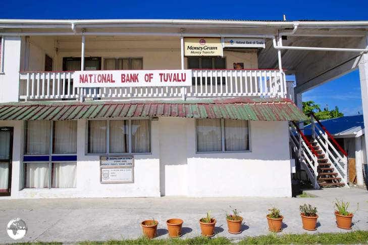 The National Bank of Tuvalu - the only bank on Tuvalu. No credit cards accepted and no ATM available - strictly cash terms.
