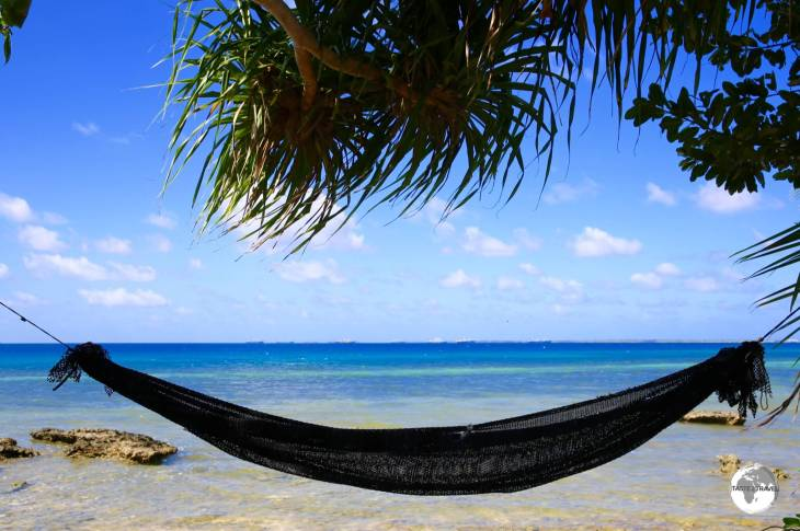 All homes on this narrow atoll have sea frontage and most have a hammock or two overlooking the lagoon.