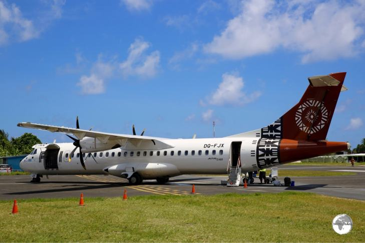 The 3-times weekly Fiji Airways flight is a vital link to the outside world for this remote nation.