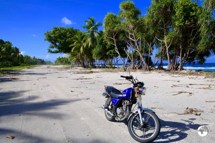 My motorbike while on Tuvalu - it was a real clunker.
