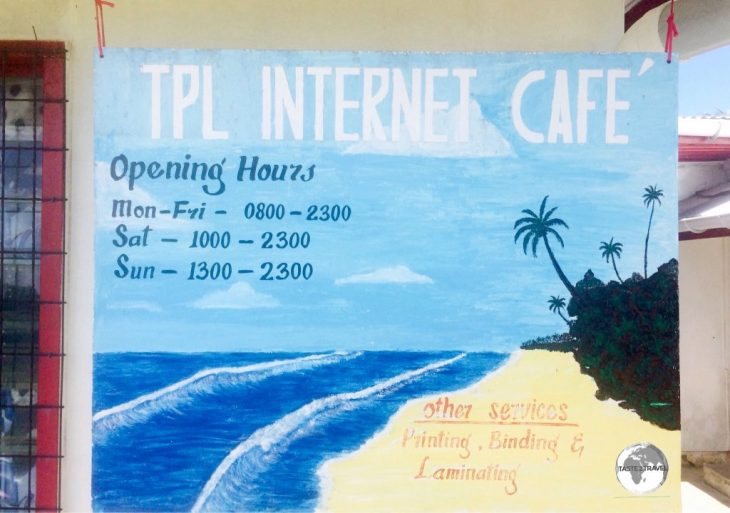 The TPL Internet Cafe offers reasonable internet speed.