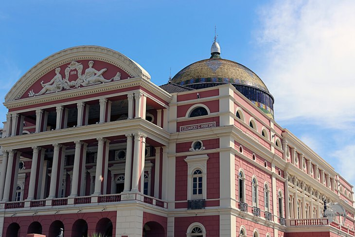 The most monumental building in the Amazon region, the opulent Manaus Opera House.