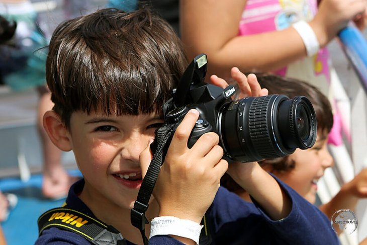 A budding photographer on the 36-hour slow boat from Manaus to Santarém.